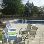 Chain Link Pool Deck
