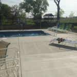 Chain Link Fence Around Swimming Pool