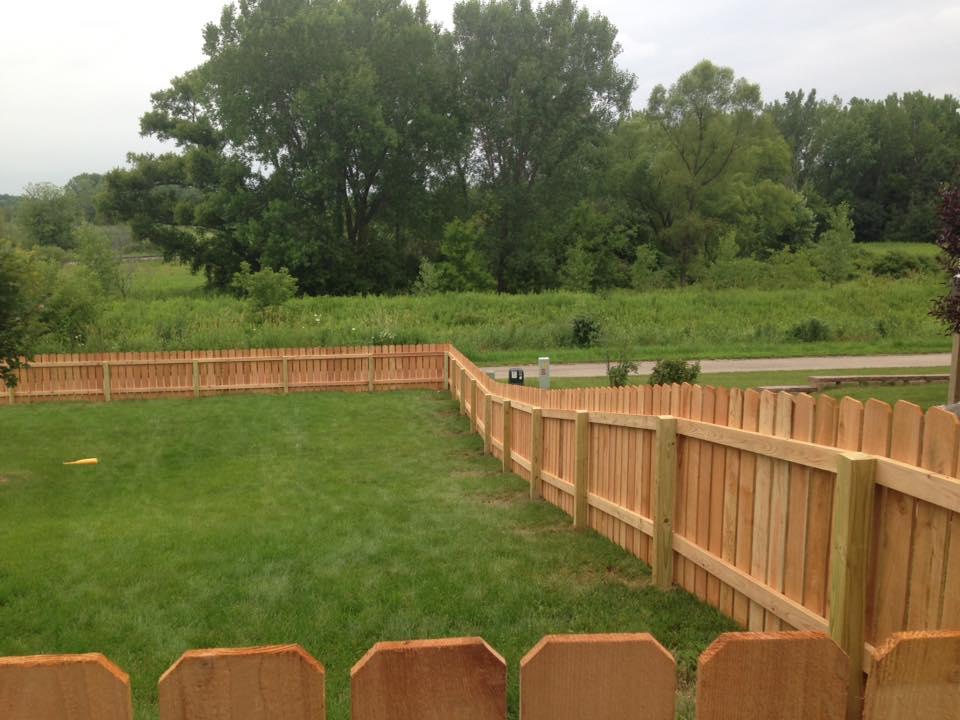 Wood Fence Corner